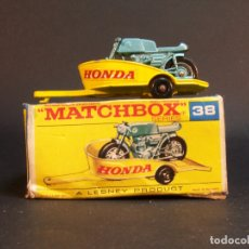 Coches a escala: MATCHBOX SERIES. Nº 38. HONDA MOTORCYCLE WITH TRAILER. MADE IN ENGLAND. 41 G. ESTADO 8 SOBRE 10.. Lote 177208439