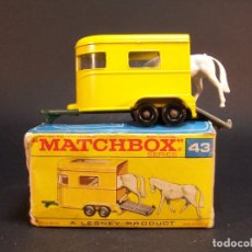 Coches a escala: MATCHBOX SERIES. Nº 43. PONY TRAILER.LESNEY. MADE IN ENGLAND. 44 G. 6,5 CM. ESTADO 8 SOBRE 10.. Lote 177208687