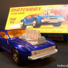 Coches a escala: MATCHBOX. ROLA-MATICS. NEW Nº10. MUSTANG PISTON POPPER. MADE IN ENGLAND. 43 G. ESTADO 9 SOBRE 10.. Lote 177209522