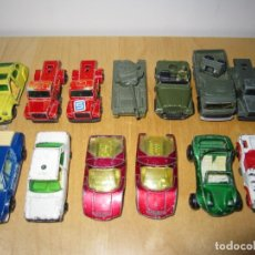 Coches a escala: LOTE 12 COCHES ANTIGUOS METAL GUISVAL + 1 MAJORETTE. Lote 177422437