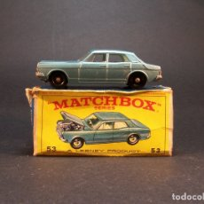 Coches a escala: MATCHBOX. SERIES. Nº53. FORD ZODIAC MK IV. LESNEY. MADE IN ENGLAND. 44 G. 7 CM. ESTADO 6 SOBRE 10.. Lote 177494607