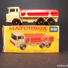 Coches a escala: MATCHBOX. SERIES. Nº58. GIRDER TRUCK. LESNEY. MADE IN ENGLAND. 47 G. 7,5 CM. ESTADO 9 SOBRE 10.. Lote 177495110