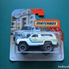 Coches a escala: MATCHBOX 1/64 - '89 SHERIFF CHEVY BLAZER 4X4. Lote 177597895
