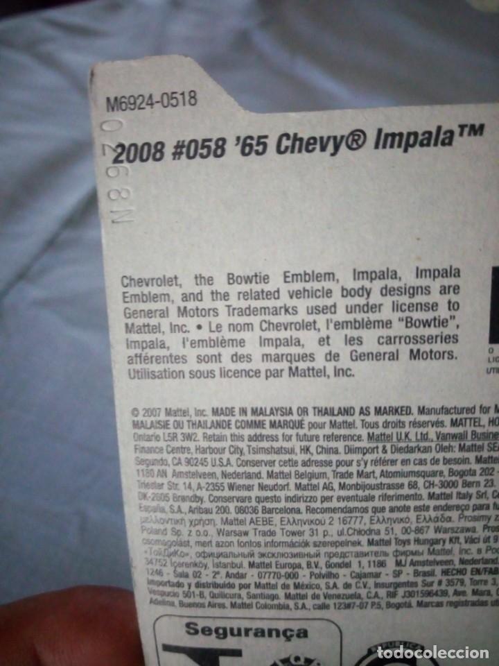 Coches a escala: Hot Wheels 2008 Stars 65 Chevy Impala - Foto 5 - 177674513