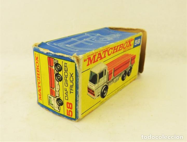 Coches a escala: Matchbox Lesney nº 58 Daf Girder Truck - Foto 5 - 177715257