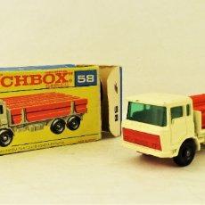 Coches a escala: MATCHBOX LESNEY Nº 58 DAF GIRDER TRUCK. Lote 177715257