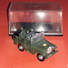 Coches a escala: JEEP WILLYS MILITAR REF. 4022, PLÁSTICO ESC. 1/87 H0, EKO MADE IN SPAIN, ORIGINAL AÑOS 60.. Lote 177735548