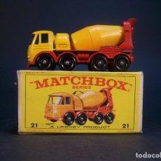 Coches a escala: MATCHBOX SERIES. Nº 21. FODEN CONCRETE TRUCK. MADE IN ENGLAND. 55 G. 7 CM. ESTADO 8 SOBRE 10.. Lote 178222735