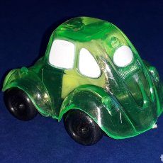 Coches a escala: RARE VW VOLKSWAGEN BEETLE KAFER GO BUG SHARPENER, PLÁSTIC 5 CMS, TAFAIR HONG KONG, ORIGINAL AÑOS 80.. Lote 178248475