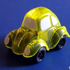 Coches a escala: RARE VW VOLKSWAGEN BEETLE KAFER GO BUG SHARPENER, PLÁSTIC 5 CMS, TAFAIR HONG KONG, ORIGINAL AÑOS 80.. Lote 178248558