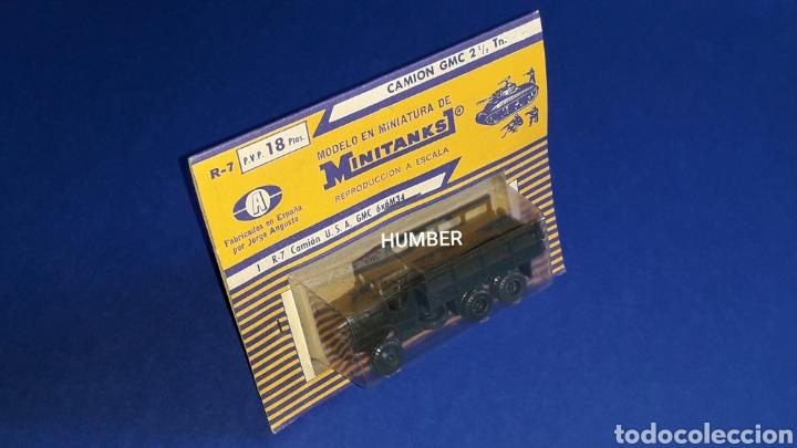 Coches a escala: Raro *Jorge Angusto Anguplas Mini-Cars* GMC M34 USA ref. R-7, Roco Minitanks España H0 1/87, años 60 - Foto 5 - 178764500