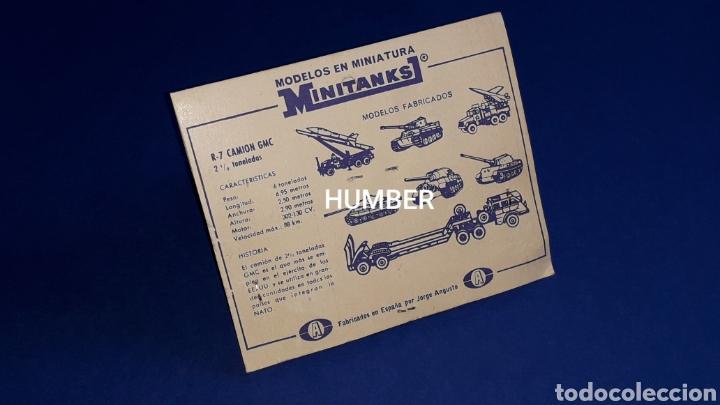 Coches a escala: Raro *Jorge Angusto Anguplas Mini-Cars* GMC M34 USA ref. R-7, Roco Minitanks España H0 1/87, años 60 - Foto 6 - 178764500
