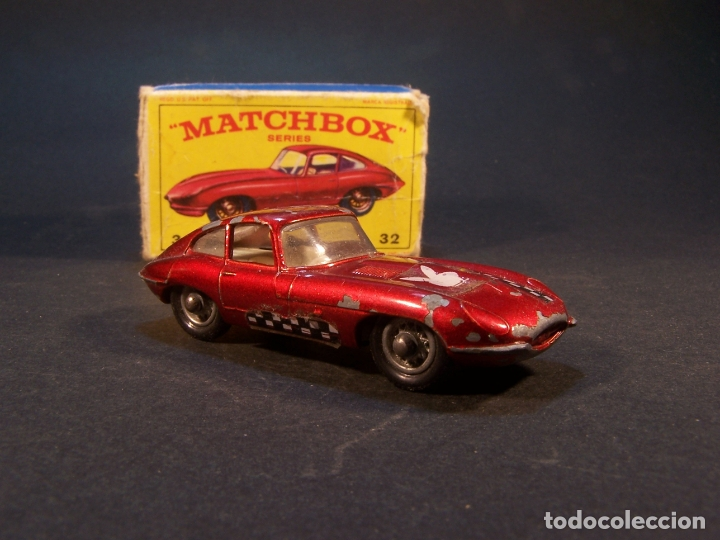 Coches a escala: Matchbox series. Nº 32. Jaguar Type E. Made in England. 29 g. 6,5 cm. Estado 7 sobre 10. - Foto 3 - 179318818