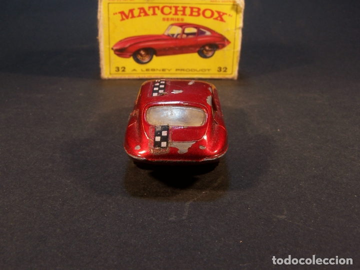 Coches a escala: Matchbox series. Nº 32. Jaguar Type E. Made in England. 29 g. 6,5 cm. Estado 7 sobre 10. - Foto 4 - 179318818