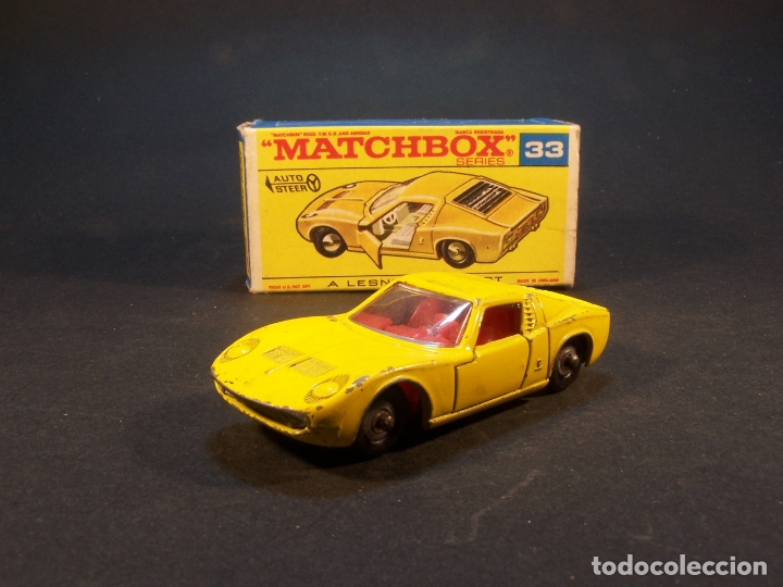 Coches a escala: Matchbox series. Nº 33. Lamborghini Miura. Made in England. 43 g. 7 cm. Estado 8 sobre 10. - Foto 2 - 179319387