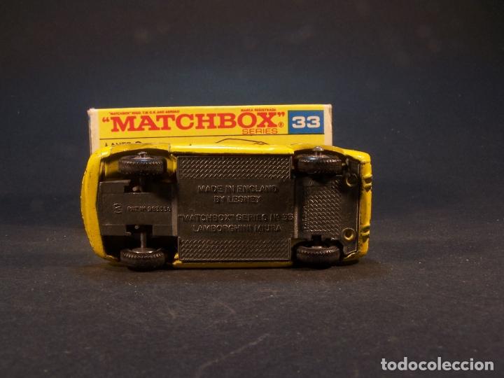 Coches a escala: Matchbox series. Nº 33. Lamborghini Miura. Made in England. 43 g. 7 cm. Estado 8 sobre 10. - Foto 6 - 179319387
