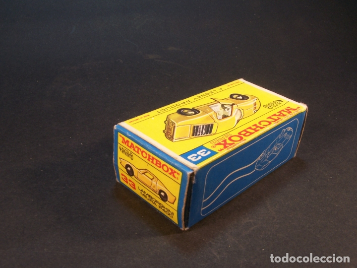Coches a escala: Matchbox series. Nº 33. Lamborghini Miura. Made in England. 43 g. 7 cm. Estado 8 sobre 10. - Foto 8 - 179319387