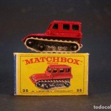 Coches a escala: MATCHBOX SERIES. Nº 35. SNOW-TRAC. MADE IN ENGLAND. 47 G. 5,5 CM. ESTADO 7 SOBRE 10.. Lote 179320072