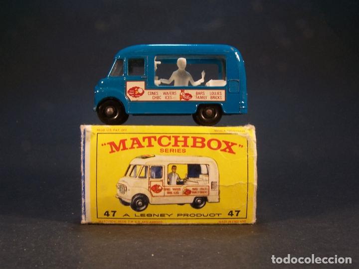 MATCHBOX SERIES. Nº 47. COMMER ICE CREAM CANTEEN. MADE IN ENGLAND 35 G. 6 CM. ESTADO 9 SOBRE 10. (Juguetes - Coches a Escala Otras Escalas )