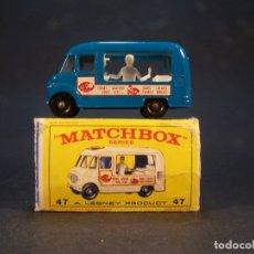 Coches a escala: MATCHBOX SERIES. Nº 47. COMMER ICE CREAM CANTEEN. MADE IN ENGLAND 35 G. 6 CM. ESTADO 9 SOBRE 10. . Lote 179329033