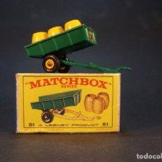 Coches a escala: MATCHBOX SERIES. Nº 51. TRAILER. MADE IN ENGLAND. 29 G. 6,5 CM. ESTADO 9 SOBRE 10.. Lote 179521540