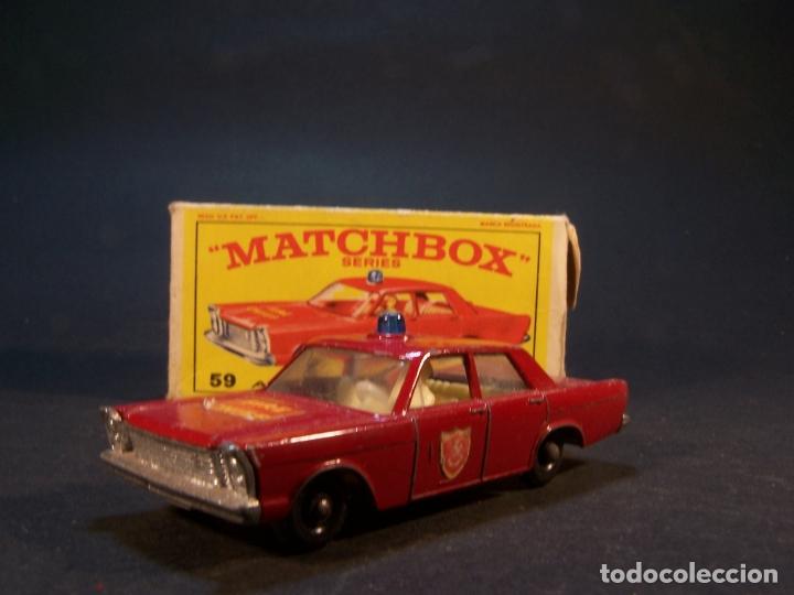 Coches a escala: Matchbox series. Nº 55/59. Ford Galaxie.. Made i England. 37 g. 7 cm. Estado 8 sobre 10. - Foto 2 - 179543876