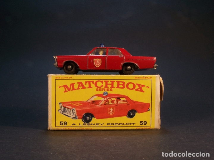MATCHBOX SERIES. Nº 55/59. FORD GALAXIE.. MADE I ENGLAND. 37 G. 7 CM. ESTADO 8 SOBRE 10. (Juguetes - Coches a Escala Otras Escalas )