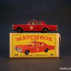 Coches a escala: MATCHBOX SERIES. Nº 55/59. FORD GALAXIE.. MADE I ENGLAND. 37 G. 7 CM. ESTADO 8 SOBRE 10.. Lote 179543876