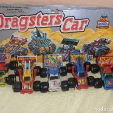 Coches a escala: 4 DRAGSTER CAR -MIRA - LAS MINIATURAS. Lote 180019476