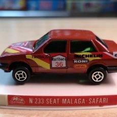 Coches a escala: GUISVAL SEAT MALAGA SAFARI CON CAJA ORIGINAL. Lote 180020218