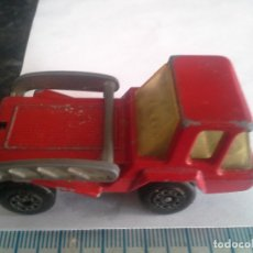 Coches a escala: CAMION CONTENEDOR ROJO MATCHBOX LESNEY ,SKID TRUCK , COCHE. Lote 180211198