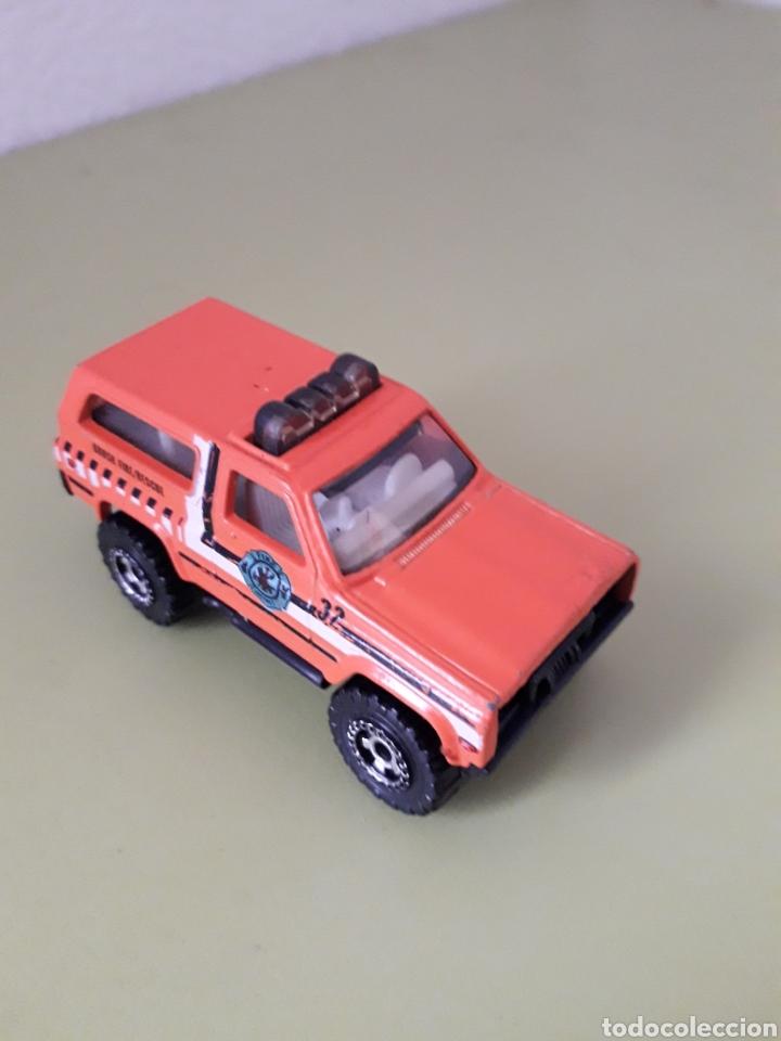 Coches a escala: Chevy Blazer 4 X 4 Matchbox 1989 Naranja butano - Foto 2 - 180473747