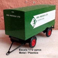 Coches a escala: EFE C59E2 REMOLQUE TRAILER BRS PARCELS LTD / LEICESTER - CON DEFECTO DE FABRICA. Lote 181941276