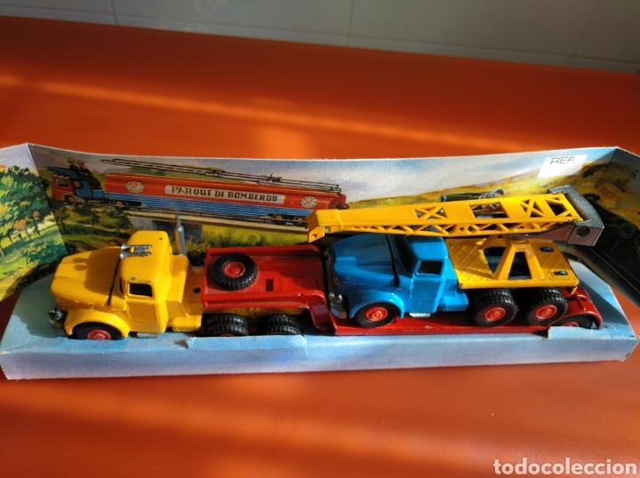 Coches a escala: GUISVAL AUTO MODEL CAMIÓN CON GRÚA, REF 151, AÑOS 60-70 escala 1/64 - Foto 11 - 182463506