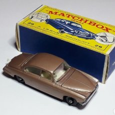 Coches a escala: JAGUAR MK 10 REF. 28, MIDE 7,3 CMS. LESNEY MATCHBOX ENGLAND, ORIGINAL AÑO 1964.. Lote 182668086
