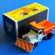 Coches a escala: SCAMMELL MOUNTAINER SNOWPLOUGH REF. 16, MIDE 7,5 CMS. LESNEY MATCHBOX ENGLAND, ORIGINAL AÑO 1964.. Lote 182673328