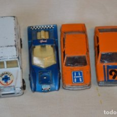 Coches a escala: LOTE 4 COCHES VARIADOS DE -- MIRA -- ANTIGUOS - MADE IN SPAIN - ORIGINALES Y ANTIGUOS. Lote 183075491