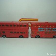 Coches a escala: LOTE DE COCHES AUTOBUS BRITISH BUS VISIT LONDON DE MAJORETTE 1,64. Lote 52018003