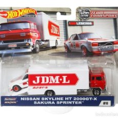 Coches a escala: HOT WHEELS TEAM TRANSPORT NISSAN SKYLINE SAKURA SPRINTER. Lote 183893997