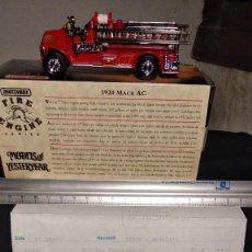 Coches a escala: MATCHBOX 1920 MACK AC . CON DOCUMENTACIÓN. EMBALAJE ORIGINAL. BOMBEROS. Lote 184032365