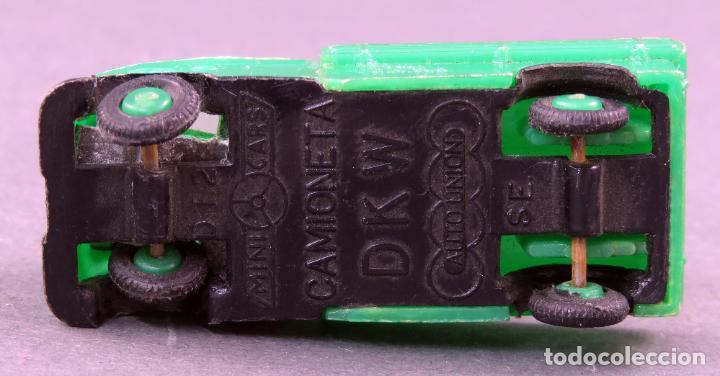 Coches a escala: DKW Camioneta Anguplas Mini Cars verde pick up Made in Spain 1/86 años 60 - Foto 3 - 185713393