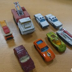 Coches a escala: LOTE MATCHBOX SUPERFAST MONTEVERDI FORD POLICE TRANSPORTER N4. Lote 187457957