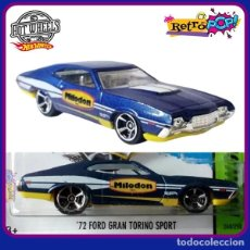 Coches a escala: HOT WHEELS 72 FORD GRAN TORINO SPORT. LOTE BFF24. COCHES COLECCIÓN HOTWHEEKS. 2014. Lote 180188813