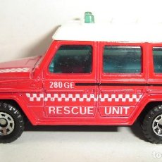 Coches a escala: MERCEDES BENZ 280 GE RESCUE UNIT MATCHBOX. Lote 189237338