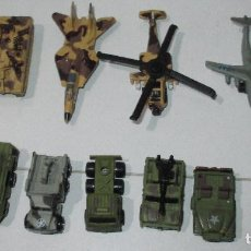 Coches a escala: LOTE 13 VEHÍCULOS MILITARES L.G.T.I., MICROMACHINES, ROADCHAMPS, FUNRISE,1988-1992. Lote 53746729