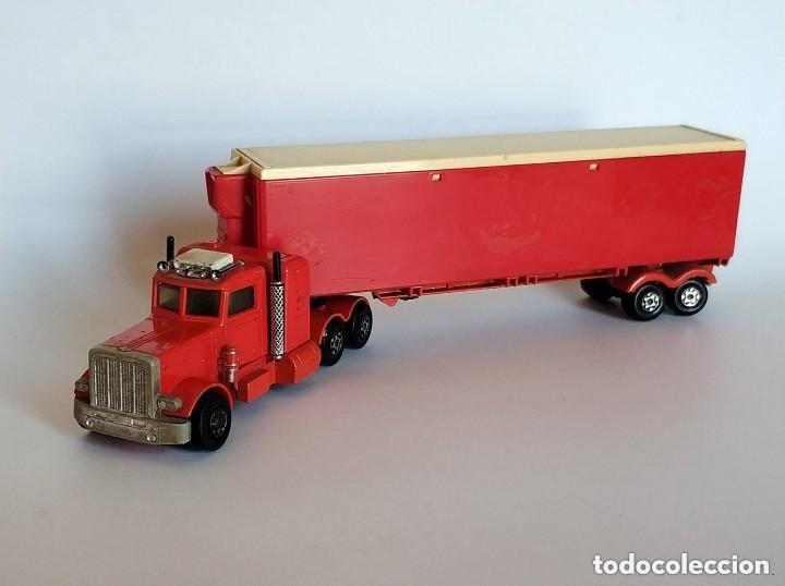 Coches a escala: Vintage 1978 Matchbox SuperKings K-17 trailer rojo truck peterbilt lesney - Foto 2 - 193211191