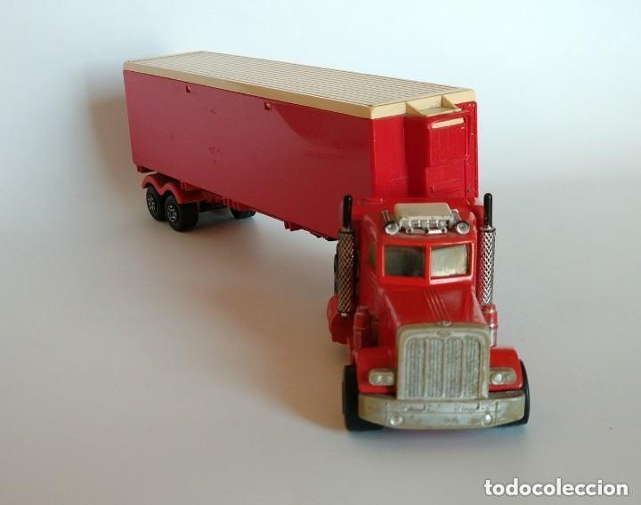 Coches a escala: Vintage 1978 Matchbox SuperKings K-17 trailer rojo truck peterbilt lesney - Foto 3 - 193211191