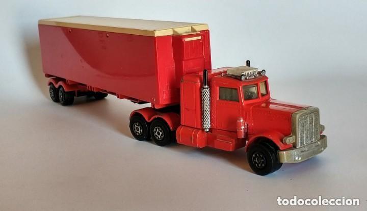 Coches a escala: Vintage 1978 Matchbox SuperKings K-17 trailer rojo truck peterbilt lesney - Foto 4 - 193211191