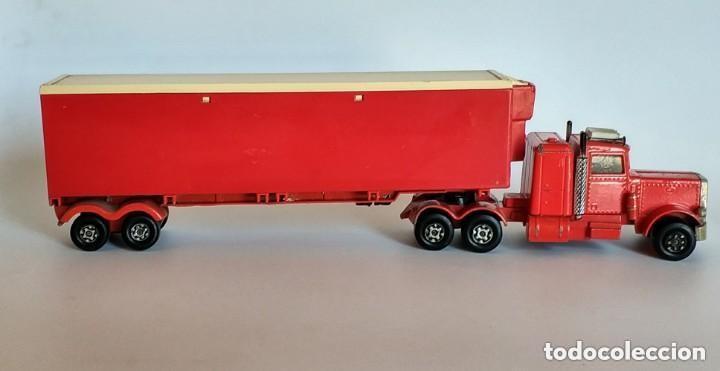 Coches a escala: Vintage 1978 Matchbox SuperKings K-17 trailer rojo truck peterbilt lesney - Foto 5 - 193211191