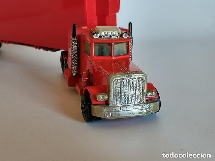 Coches a escala: Vintage 1978 Matchbox SuperKings K-17 trailer rojo truck peterbilt lesney - Foto 6 - 193211191
